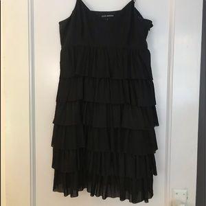 Club Monaco Black Tiered Ruffled Dress Size 6